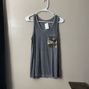 POL Tank With Sequin Pocket